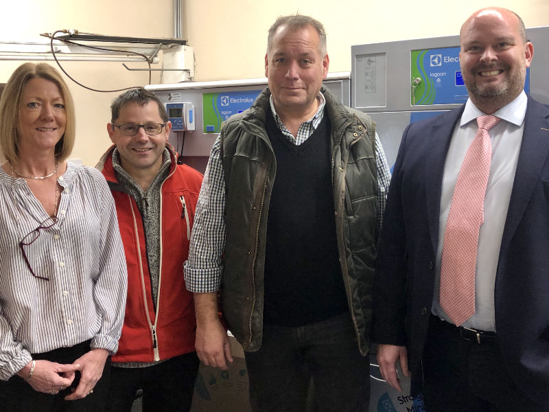 David Warburton MP joins launch of Somerset's first eco-friendly dry cleaners