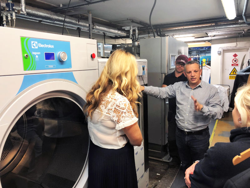 Case Study - Palace Laundry replace Dry Cleaning machine with Wet Cleaning solution